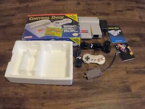 Nintendo Entertainment System NES-101 Top Loader Console Complete box +Dr Mario!