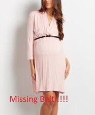 Size 8 Pink Maternity Nursing Dress Ladies Womens Surplice Neckline BNWT -1490