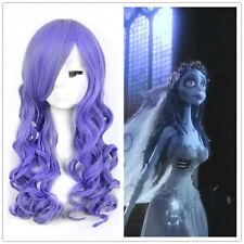 Zombie Corpse Bride Tranny Wig Harajuku Purple Long Curly Halloween Wigs