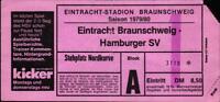Ticket BL 79/80 Eintracht Braunschweig - Hamburger SV, Nordkurve