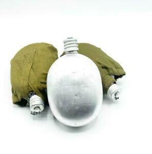 Soviet Water Bottle Military Canteen Marching USSR Russian Army Solder Drinking