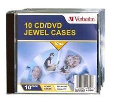 Verbatim CD/DVD Jewel Cases - 10 Pack