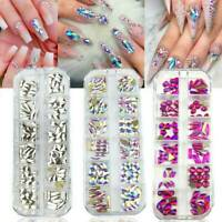 Nail Art Rhinestones Crystals Gems Beads Charm Pearl Glitter 3D Sequins Foil Set