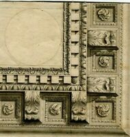 Dessin Ancien Original XVIIIème - Architecture, Frise, Décoration, Plafond