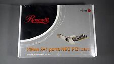 Firewire PCI Card 1394a 3+1 Ports NEW Rosewill