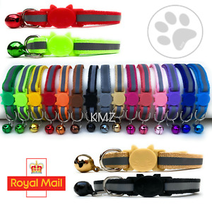 Safety Release Cat Kitten Collar Quick Release Reflective Bell Quick Adjustable