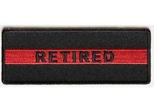 RETIRED Red Line Fire Fighter Firefighter Fireman MC Biker Vest Patch PAT-3662