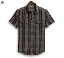 Genuine Harley-Davidson Men's Logo Patch Plaid Shirt