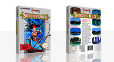 Castlevania II Simon's Quest NES Spare Game Case Box + Cover Art Work (No Game)