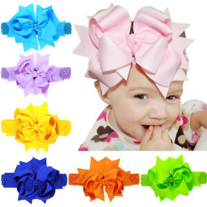 8'' Hair Accessory Knot Grosgrain Ribbon Hair Bow Hair Band For Girl Gift