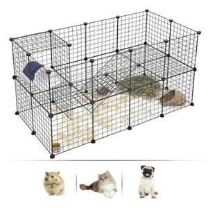 DIY Pet Playpen Pawhut Metal Wire Fence Panel Enclosure Foldable Animals Cage