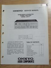 Original Onkyo Service Manual for the A-8017 Amp Amplifier~Repair