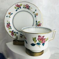 Wedgwood Commemorative Ware Williamsburg Chinese Flowers Teacup and Bread Plate