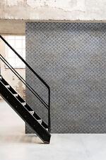 Vliestapete Beton Blech Gitter Anthrazit Grau Silber Industrial Loft metallic