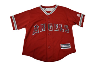 Majestic MLB Infant Los Angeles Angels Mike Trout Jersey Look 18 Months