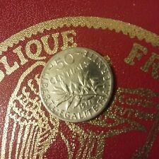 50 centimes semeuse argent 1911 , assez rare