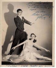 Vintage Evelyn & James Kenny Ice Figure Skater Signed 8x10 Press Photo 1940s