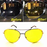 Polarized Yellow Lens HD Night Vision Sunglasses Anti-glare Car Driving Glasses