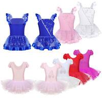 Girls Ballet Dress Kids Gymnastics Leotard Tutu Skirt Ballerina Sequined Costume
