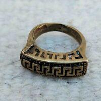 Ancient Primitive Bronze Ring, Authentic Viking Artifact Stunning Rare Type