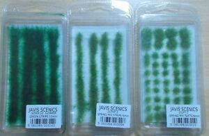 3x Javis Jtuft 5, Jstrip 5,10 Statische Rasen Streifen, Modellgras, Büschel H0