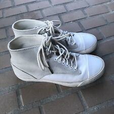 Diesel Shoes 6.5 Womens Sneakers High Top Persis White Suede Canvas Lace Up