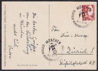 Bund Mi Nr. 169 EF Ausstellung Karte mit SST München - Zürich Schweiz 1953