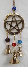 Brass Pentagram Design Windchimes / Wind Chimes with Bells - BNWT -