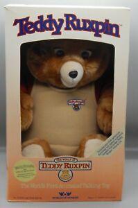 Original Vintage 1985 Worlds of Wonder TEDDY RUXPIN talking UNUSED toy w/BOX wow