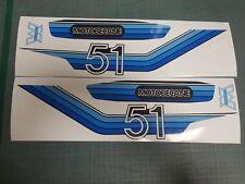 MOTOBÉCANE - Kit Stickers Autocollants Carter V51 Bleu