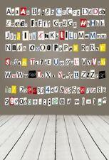 Kid Photography Background Calligraphy Alphabet Backdrop Gray Studio Prop 5x7ft