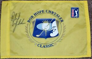 PHIL MICKELSON Signed Bob Hope Chrysler Classic Course Flag 2X Champion PSA/DNA