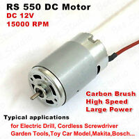 Mini RS-550 Electric DC Motor 12V 15000RPM High Speed Power Electric Drill Tools