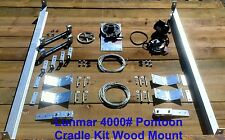 Lunmar 4000# Pontoon Cradle Kit Wood Mount