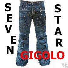 Seven Star GIGOLO los remaches VAQUEROS TALLA 33/32 FALSO D' La Stars