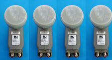 LOT 4 Directv Single LNB 18 Dual Output LNBF DSS FTA Satellite DTV32 LNB18 18""