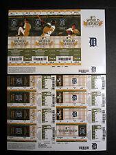 Detroit Tigers 2011 Phantom Playoff Postseason Uncut Sheet Unused Ticket Stub