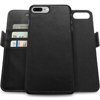 Apple iPhone X/8/7 Plus Genuine Leather Wallet Case with RFID Protection For Men