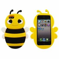 Yellow Silicone BEE Phone Case / Cover for Apple Iphone 5 / 5S / SE / 5C