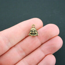 8 Buddha Charms Antique Bronze Tone 3D - BC185