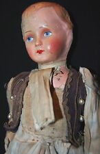 Curio Antique German Hand Made Doll in a french antique glass dome Decorative