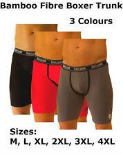 1x Men's Bamboo Branded Branson Long Leg Boxers Briefs Shorts Trunks US M-4XL