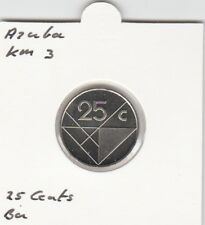 Aruba 25 cents 1987 BU - KM3