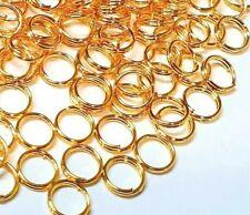 240 Spiralringe Gold 5mm Spaltringe Verbinder Binderinge Schmuck BEST F263