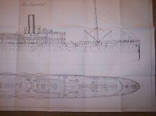UMBRIA OCEAN LINER SHIP PLAN