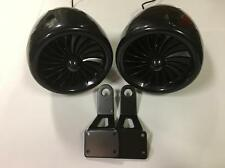 2 300 watt Black waterproof marine motorcycle atv speakers with mirror brackets