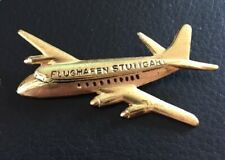 Antique Pin Brooch Aircraft - Airport Stuttgart