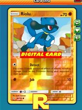 Riolu (Detect FOIL) - for Pokemon TCG Online (DIGITAL ptcgo in Game Card)