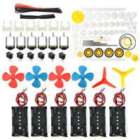 6 set DC Motor Mini Electric Motor 1.5-3V 24000RPM with 84 Pcs Plastic Gears