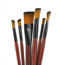 6Pcs/Set Nylon Acrylic Oil Paint Brushes Kit For Art Artist Supplies Watercolor